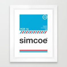 simcoe single hop Framed Art Print