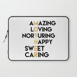 DEAR MOTHER Mothers Day quote Laptop Sleeve