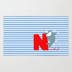 n for narwhal Rug