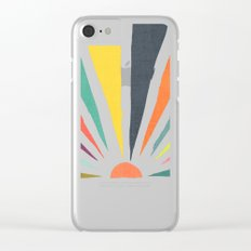 Rainbow ray Clear iPhone Case