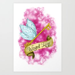 Winged key Art Print