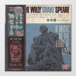 Willy 'Shake' & All That Jazz (Japanese OBI Edition) Canvas Print