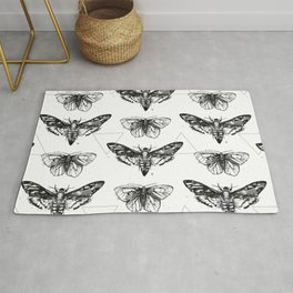 Geometric Moths Rug