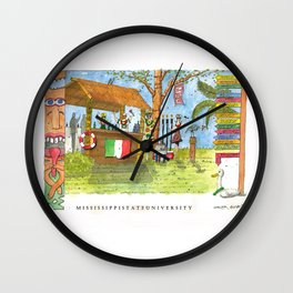 Mississippi State University Party Wall Clock