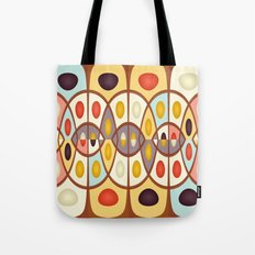 Wavy geometric abstract Tote Bag