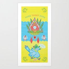Home Tweet Home Cuckoo Clock Art Print