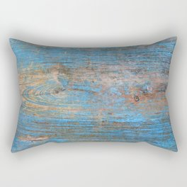 Blue Wood Grain Rectangular Pillow