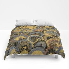 Tree Huggers in Gold Comforters