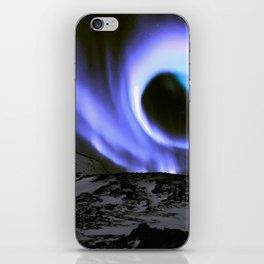 Aurora Borealis Mountains Periwinkle Lavender iPhone Skin