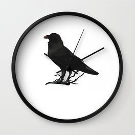 Black Gothic Crow Raven - EAP Nevermore Gift Wall Clock