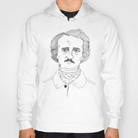 edgar allen poe Hoodies featuring POE by Dave P