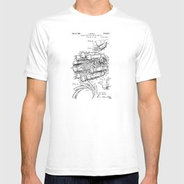 Jet Engine: Frank Whittle Turbojet Engine Patent T-shirt