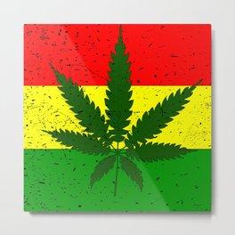 Rastafarian Flag Metal Print