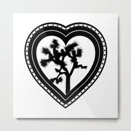 Heart of the Hi-Desert™ Joshua Tree by CREYES Metal Print