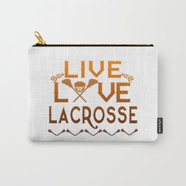 LIVE - LOVE - LACROSSE Carry-All Pouch