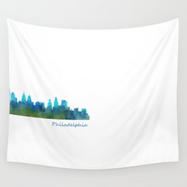 Philadelphia City Skyline Hq V1a Wall Tapestry