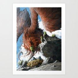Griffin Mom Art Print