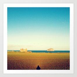 Tantallon Castle and Bass Rock Art Print