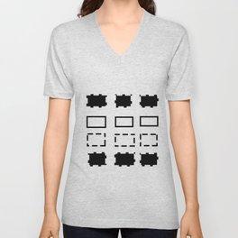 Pattern in black and white Unisex V-Neck