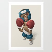 ali Art Prints featuring Ali by clogtwo