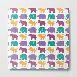 Fun at the Zoo: Pattern Metal Print