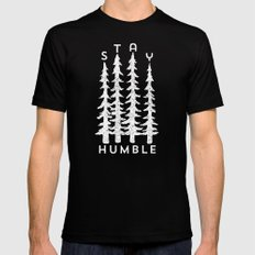 Stay Humble X-LARGE Mens Fitted Tee Black