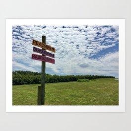 Winchester farm Art Print