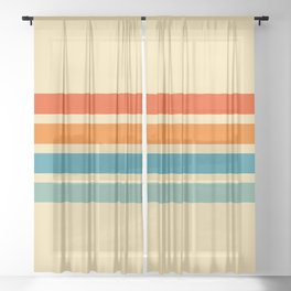 Classic Retro Cernunnos Sheer Curtain