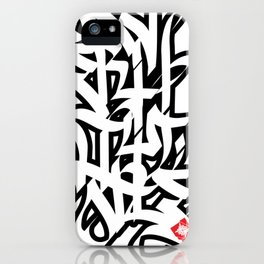 Severity One Caligraphy iPhone Case