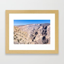 Jebel Shams - Oman Framed Art Print