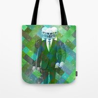clown Tote Bags featuring Clown... by William Rutherford