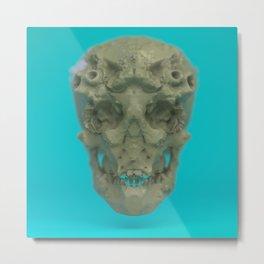 Skull Coral Reef Metal Print