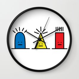 Three Little Hats Wall Clock