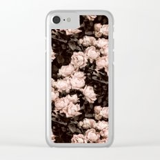 New Old Dreams - Rose Bush Pattern Clear iPhone Case