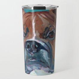Walker the Boxer Dog Portrait Travel Mug
