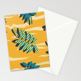 Autumn leaves hipster with paster colors Stationery Cards