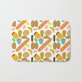 Patisseries de France French Pastries and Breads Bath Mat