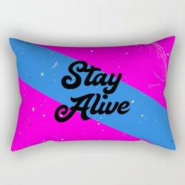 Stay Alive Rectangular Pillow
