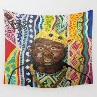 biggie Wall Tapestries featuring coogi biggie  by waddartbydrew