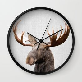 Moose - Colorful Wall Clock