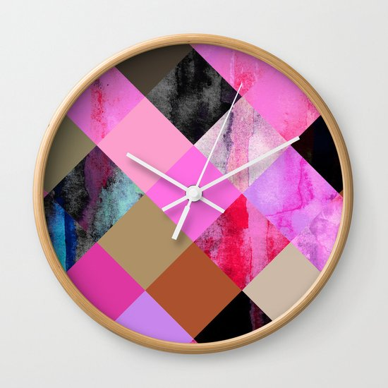 colour + pattern 14 Wall Clock