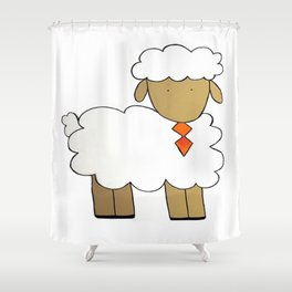 The Sheep Familly Shower Curtain