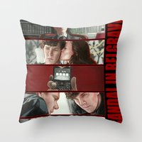 scandal Throw Pillows featuring A Scandal in Belgravia by Alessia Pelonzi