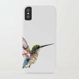 Hummingbird, bird art minimalist bird design hummingbird lover iPhone Case