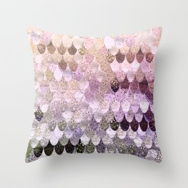SUMMER MERMAID MOONSHINE GOLD Throw Pillow