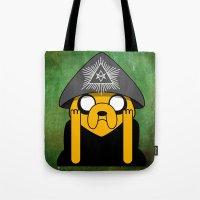 crowley Tote Bags featuring Jake Crowley by Conversa entre Adeptus