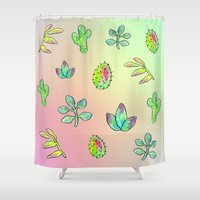 cacti Shower Curtains featuring Cacti  by Brettisagirl