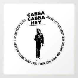 Blitzkrieg Bop • Punk Rock Lyrics Art Print