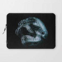 Analogue Glitch Skull Laptop Sleeve