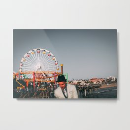 Santa Monica Pier wheel Metal Print